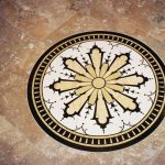 Entry medallion in marbles