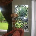 Faux iron Gate at window