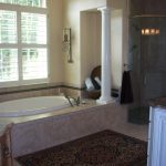 Niches at tub for picture or towels and accessories