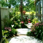 Paver circles add whimiscal look to a garden